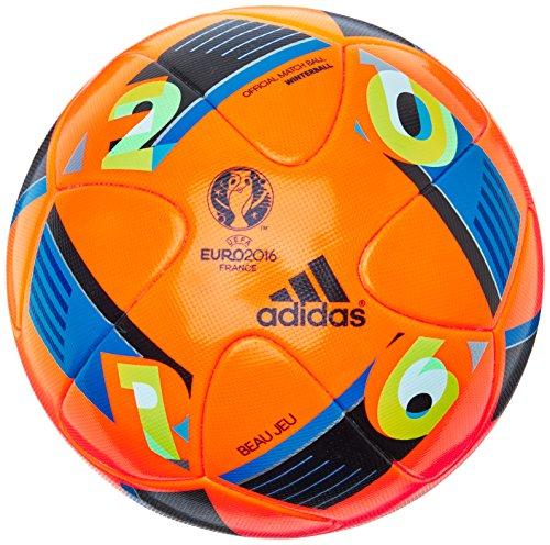 adidas Herren Ball EURO 2016 Winter, Solar Orange/Bright Blue/Night Indigo, 5, AC5451