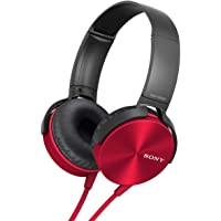Sony MDR-XB450 On-Ear EXTRA BASS Headphones (Red)