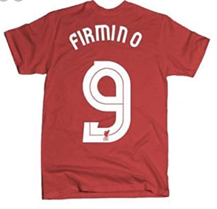 NB LFC Mens Firmino Home Long Sleeve EPL Patch Jersey, Red Pepper