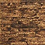 Texture Plus Indoor/Outdoor Siding Panel, Stacked Stone, Tan