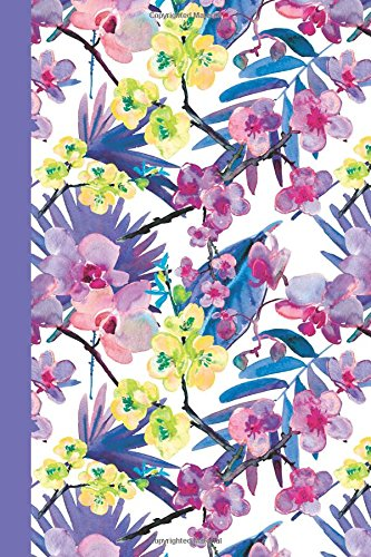Journal: Watercolor Flowers (Purple and Yellow/Purple) 6x9 - DOT JOURNAL- Journal with dotted pages (Watercolor Flowers Dot Journal Series)