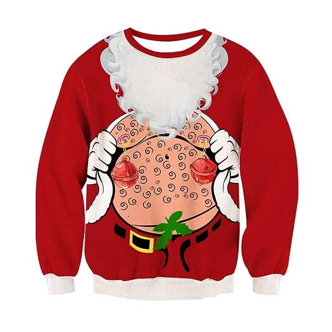 Rave on Friday Unisexo Navidad Sudaderas 3D Impresión Ugly Sweater Pulóver Hombre Tops Sweatshirt S-XXL: Amazon.es: Ropa y accesorios