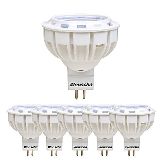 Wenscha Foco de techo MR16, 5 W, bombilla LED GU5.3, CA