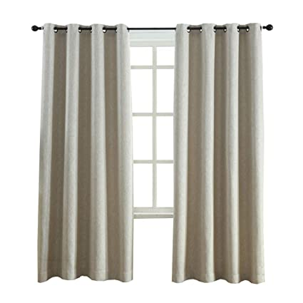 Amazon.com: Kotile 2 Panels Grommet Room Darkening Curtain Panels ...