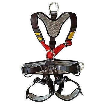 MIASJIA Arnés de Seguridad de Cuerpo Completo de Escalada al Aire ...