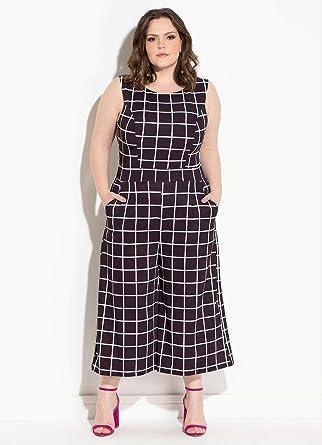 85c458ffc27 Macacão Feminino Pantacourt Xadrez Plus Size: Amazon.com.br: Amazon Moda