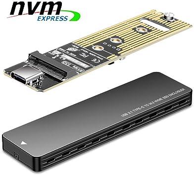 M.2 NVME to USB 3.1 Type-C PCIE SSD HDD Enclosure M-Key SSD to USB-C Black