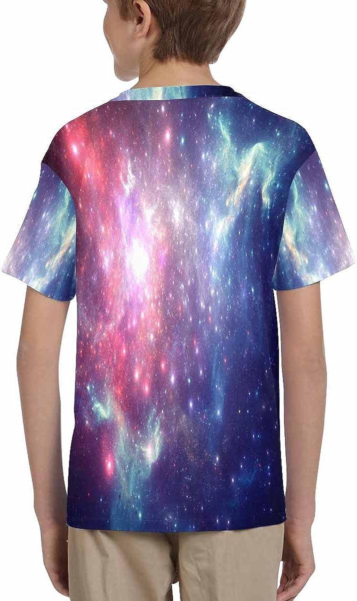 INTERESTPRINT Childs T-Shirt Colorful Space Nebula XS-XL