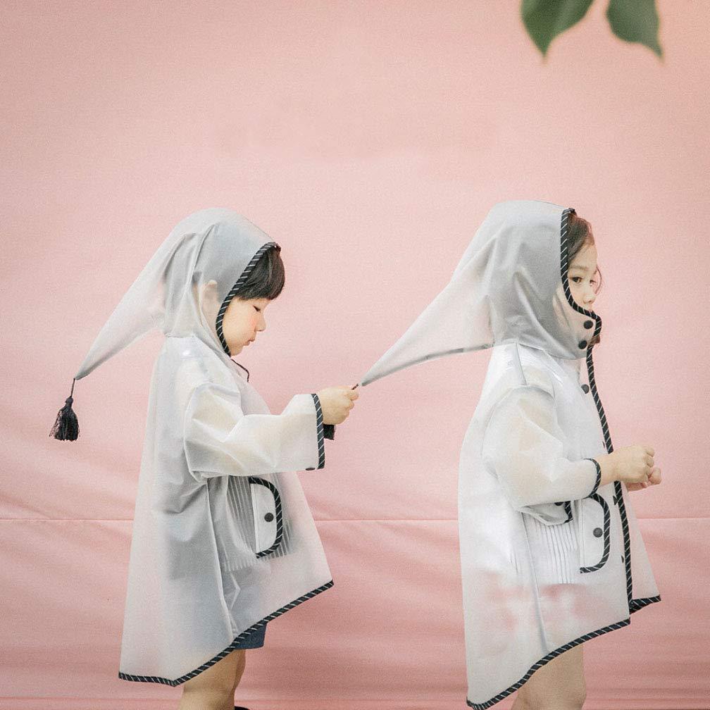 Queta bambini Raincoat bambini antipioggia trasparente impermeabile poncho XL