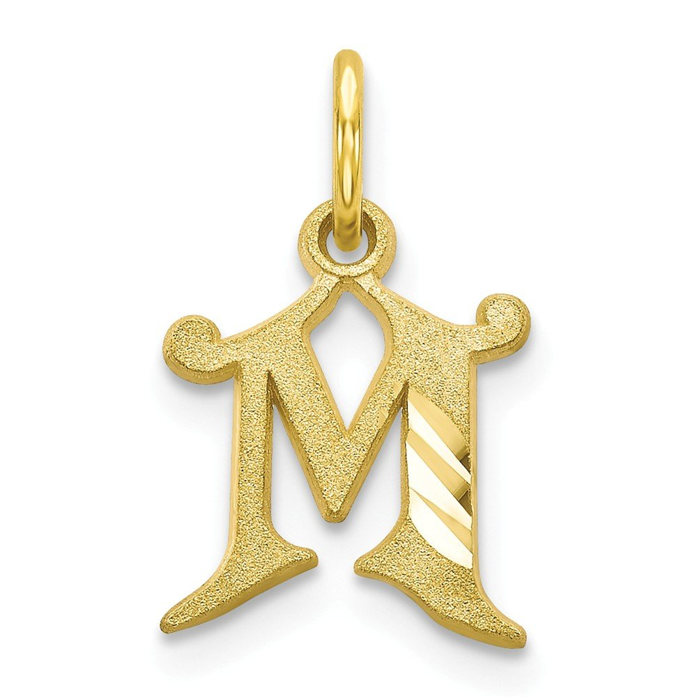 Mia Diamonds 10k Yellow Gold initial M Charm