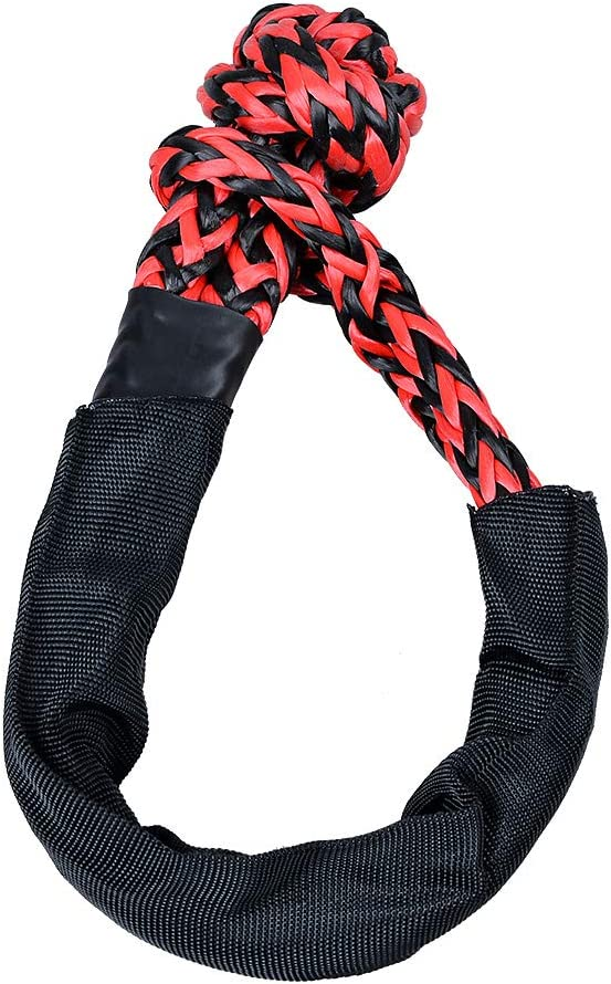 Astra Depots RED 1//2 Synthetic Soft Rope Shackles 38,000lbs+ 2pcs