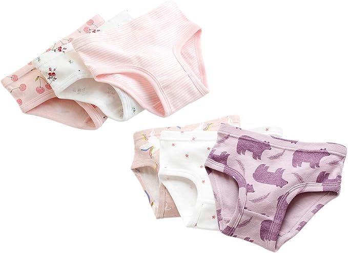 ZEVONDA 6 Pack Bragas de 100% Algodón para Bebés Niñas - Cómodo y ...