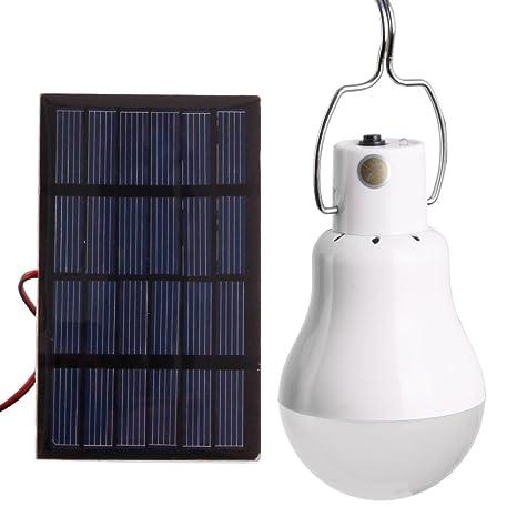 Veesee Bombillas LED Energia Solar, Lámparas Solares Luz, Panel solar, Luces Solares, Luz de Noche, Lámpara de Mesa, Cabecera, Niños, Incandescente de ...