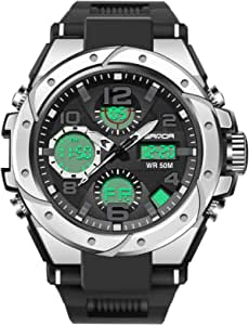 Military Watches for Men Outdoor Sports Digital Watch Tactical Army Wristwatch LED Stopwatch Waterproof Military Watches for Men