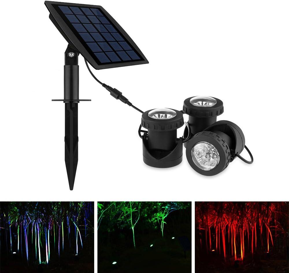 1# l/ámpara de jard/ín RGB con luz LED para Piscina con Control Remoto a Prueba de Agua jard/ín Exterior Foco Fuente de Paisaje koulate Luz subacu/ática