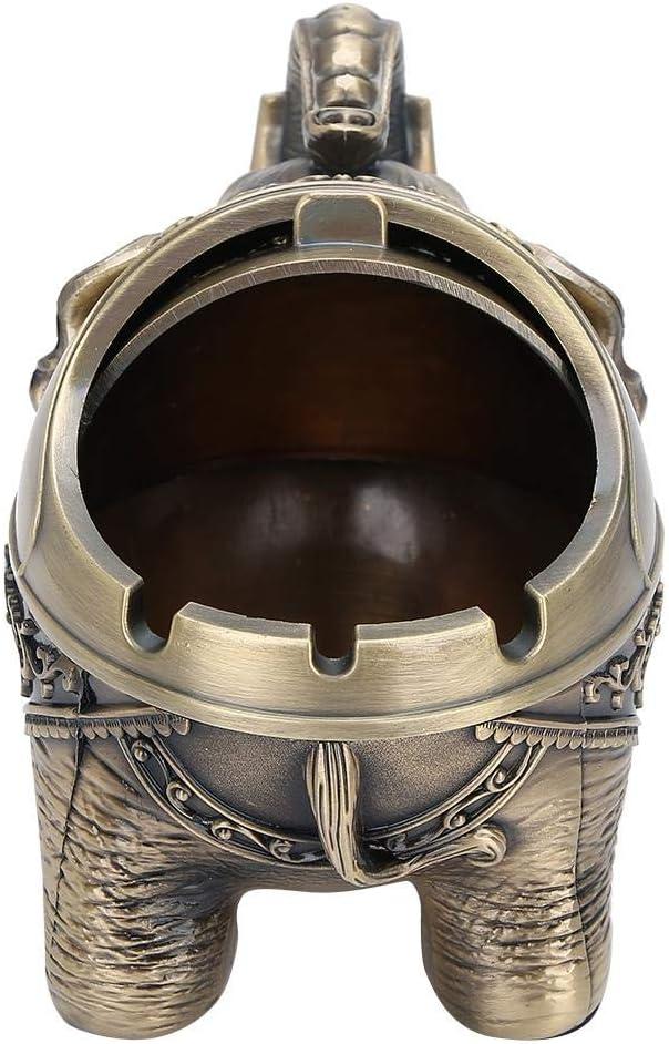 cenicero de Elefante de Metal /único Cenicero de Metal port/átil Eliminador de olores Interior al Aire Libre Tallado a Mano Elefante de Suerte Adorno #1 Cenicero a Prueba de Viento Vintage con Tapa