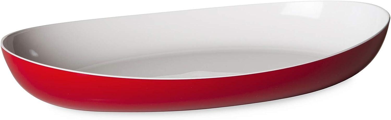 Omada Design Plato para servir u hornear en plástico irrompible de dos tonos, Made in Italy, 28 x 17 x 5 cm, apto para lavavajillas, ideal para platos fríos o calientes, línea Trendy