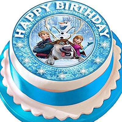 Frozen personajes feliz cumpleaños troquelada comestible ...