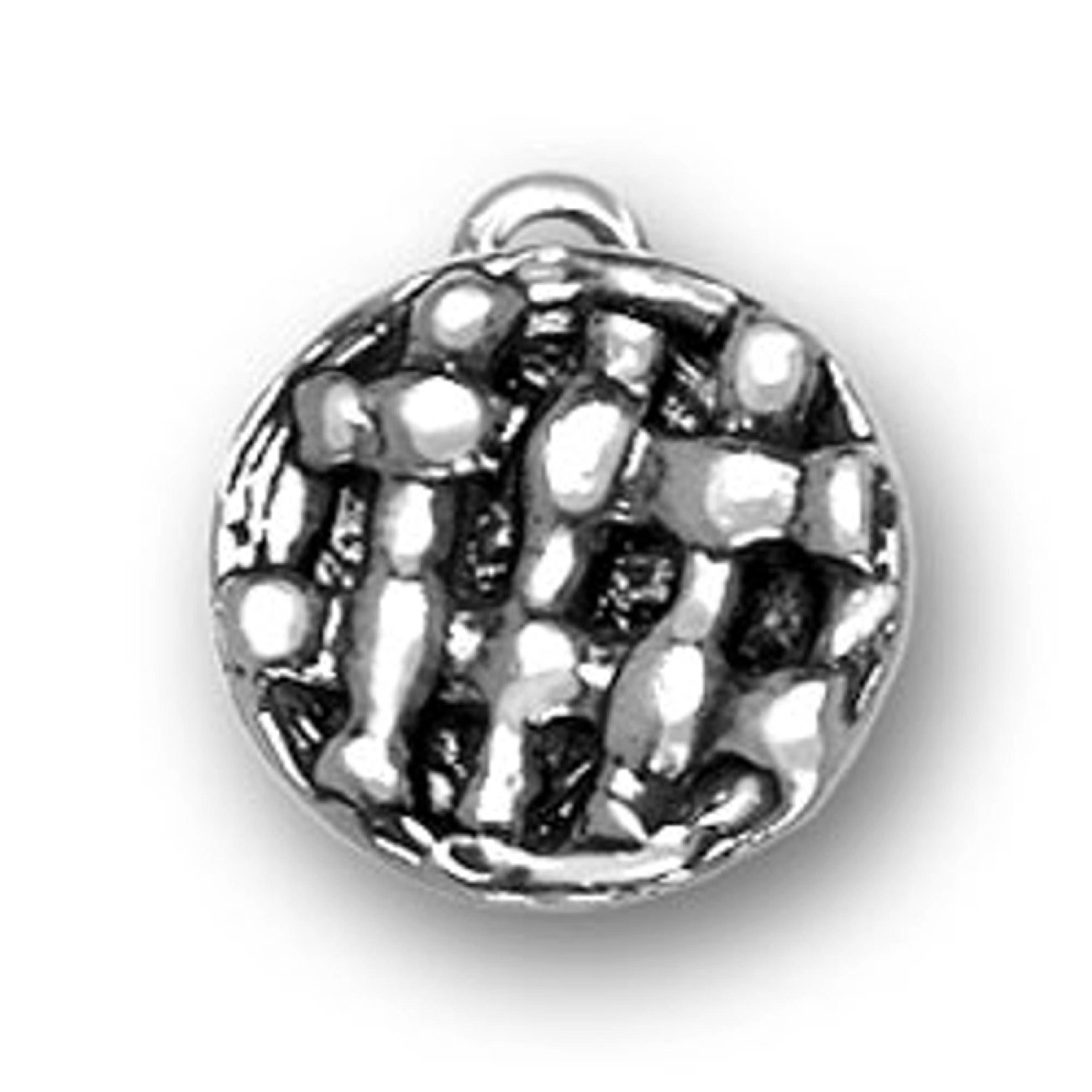 Sterling Silver 3D Kitchen Criss Cross Layered Pie Cooking Charm
