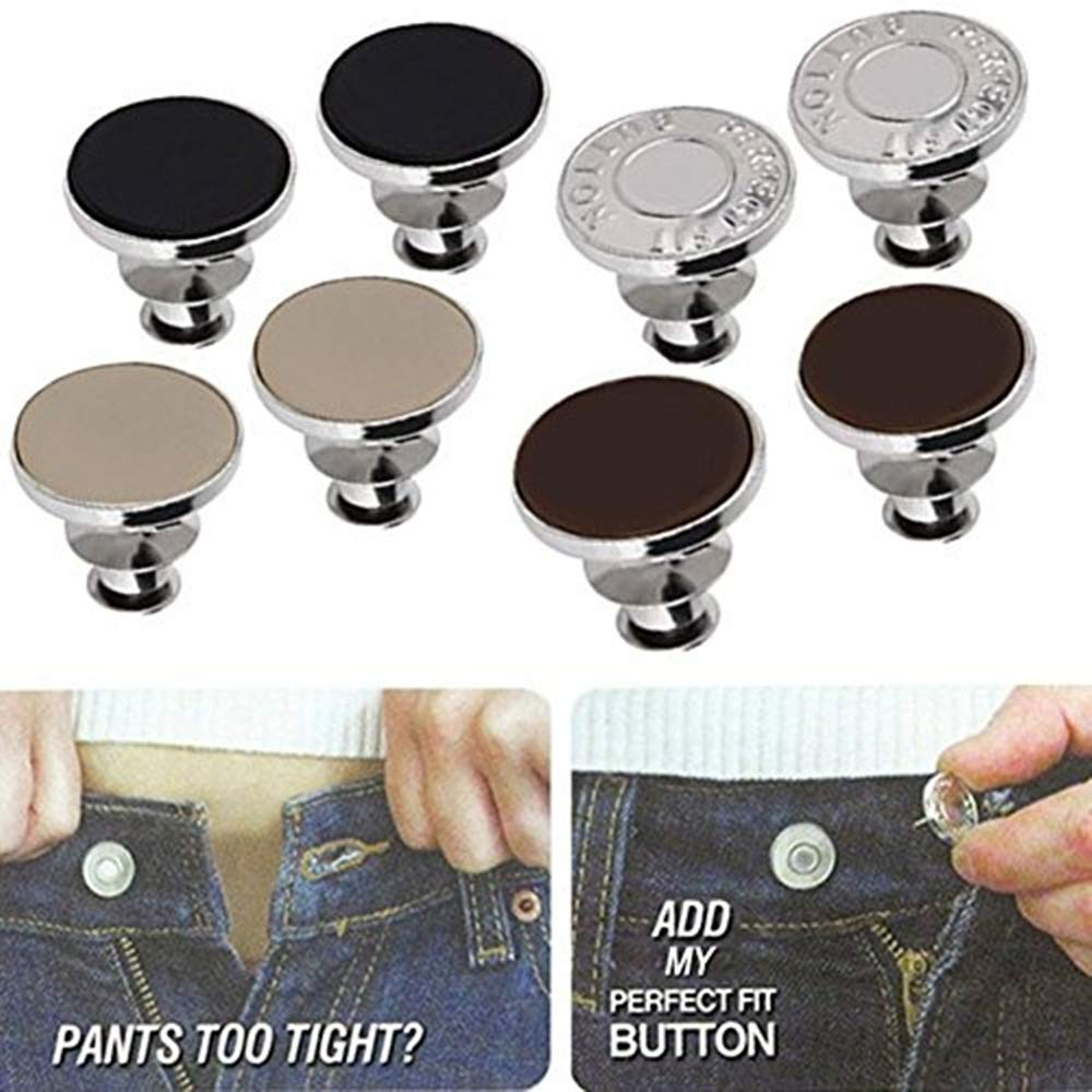 FQTANJU 1 Set Perfect Fit Instant Button, Adds Or Reduces An Inch To Any Pants Waist In Seconds. 4337003828