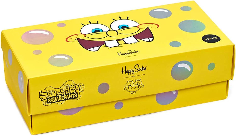 Happy Socks Geschenkbox SPONGEBOB SQUAREPANTS 3-PACK GIFT BOX XBOB08-0100 Mehrfarbig