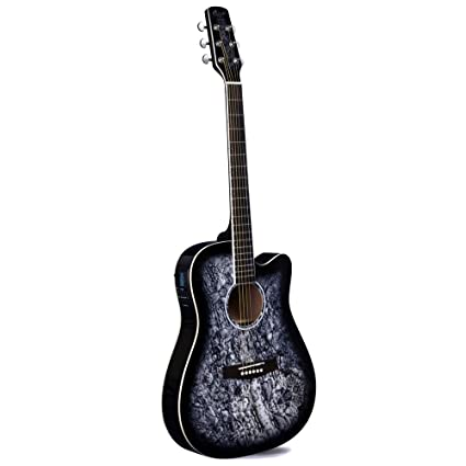 Lindo Guitars - Guitarra electroacústica (preamplificador F-4T, afinador digital LCD, funda