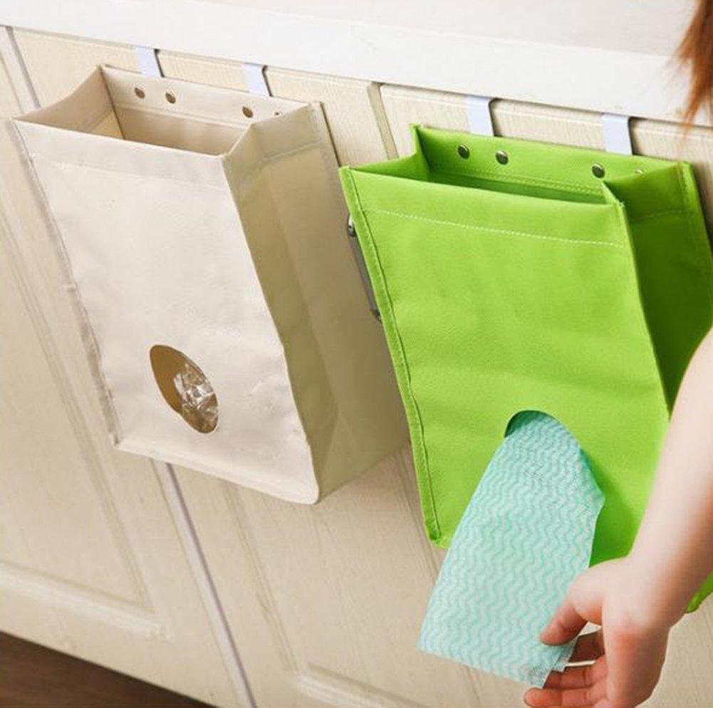 Da.Wa Retour Porte-sac /à ordures Sac d/épicerie Distributeur Organisateur Sac /à ordures Conteneur pour cuisine