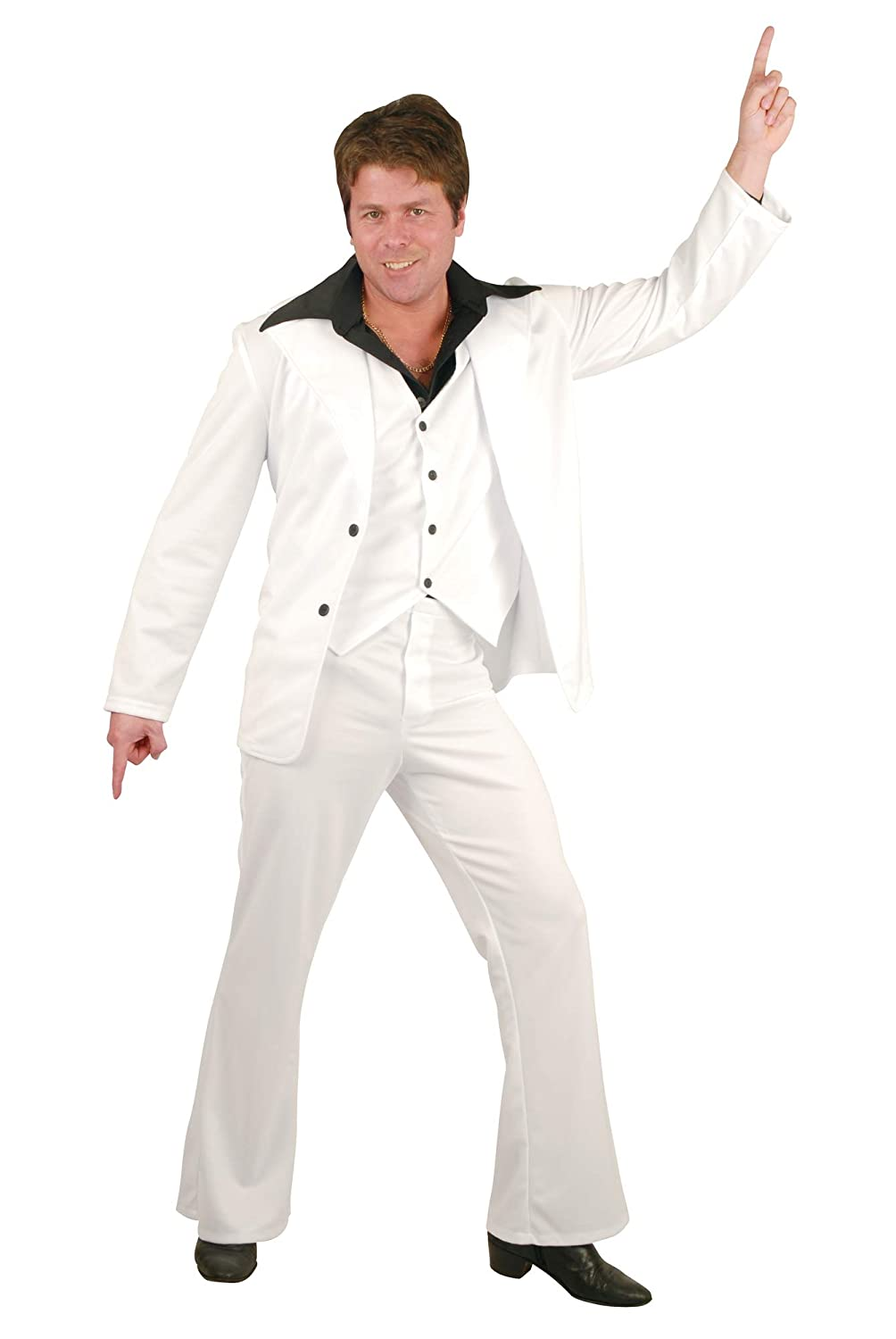70s Costumes: Disco Costumes, Hippie Outfits Charades Mens Disco Fever Suit $51.64 AT vintagedancer.com