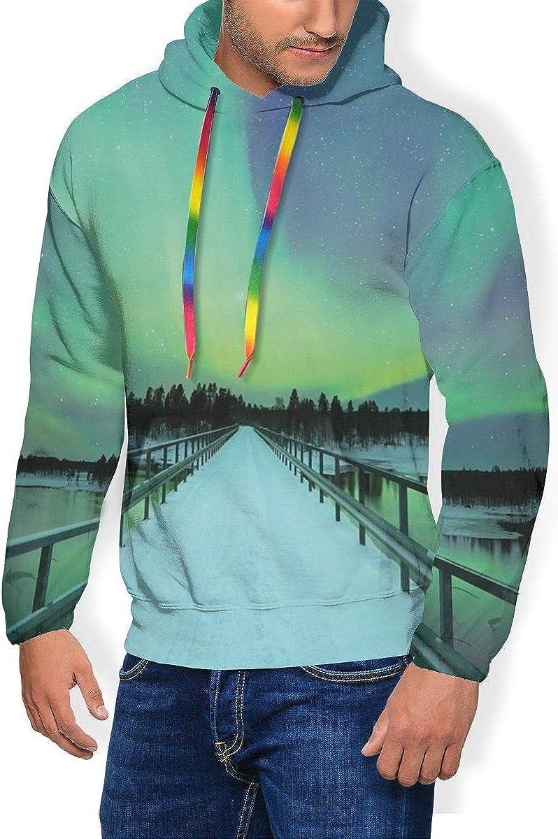 Men's Hoodie Thicken Fluff Sweatshirt,Monument Valley West Mitten and Merrick Butte Sunset Utah Desert
