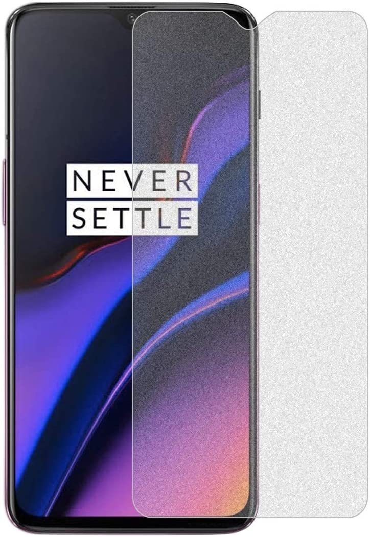 JIANGNIUS Screen Protectors 50 PCS Non-Full Matte Frosted Tempered Glass Film for OnePlus 6T No Retail Package