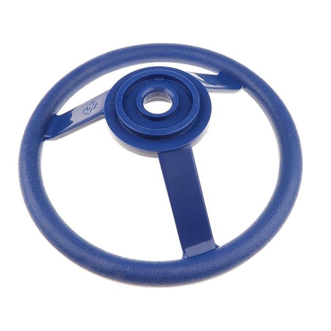 Blau Gelb// Blau// Rot// Gr/ün zu wahlen Homyl 30cm Kinder Lenkrad Steuerrad Lenker Kletterturm Spielturm Schaukel Zubeh/ör