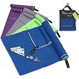 Mikrofaser Handtuch Set mit Tasche | schnelltrocknend, ultraleicht | Sporthandtuch, Reisehandtuch, Microfaser Badehandtuch, outdoor, camping
