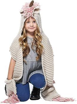 Filles Enfants Enfants Licorne Hiver Chaud Bonnet