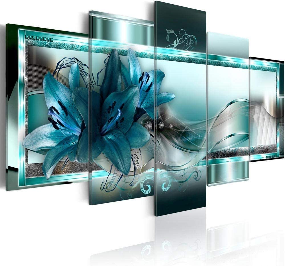Canvas_Art_Design_2015 Home Decor Abstract Flower Wall Art Canvas Print Pictures for Living Room (A1, 30x45cmx2,30x60cmx2,30x75cmx1)