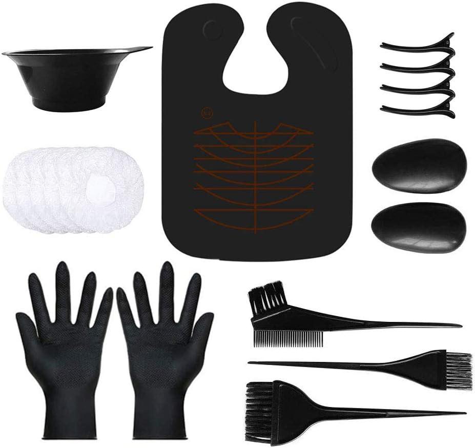 Hair Dye Kit,VITTA Hair Dye brush and bowl set for DIY Hair Coloring Bleaching, Salon Hair Dye Kit with Hair Cutting Cape: Kitchen & Dining