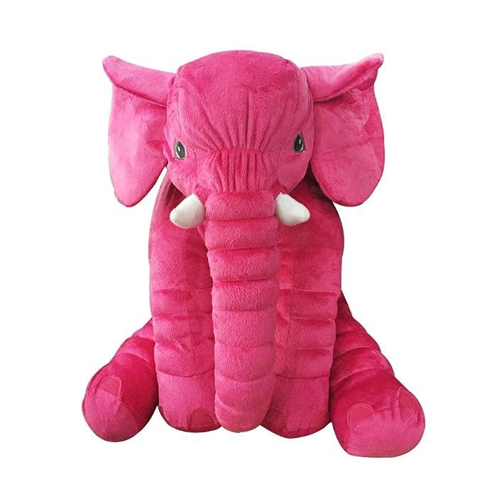 Missley Suave Elefante Almohada Encantador Animal Felpa Juguetes Calentar Sofá Amortiguar Mejor Navidad Regalos (Negro, Grande)
