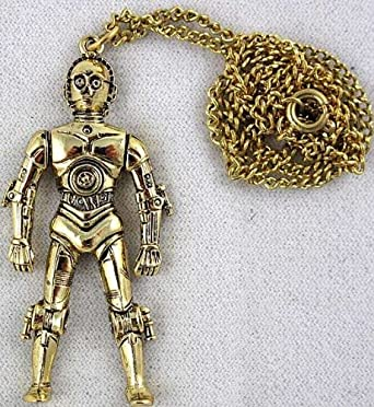 1977 Star Wars C-3PO Pendant Necklace Vintage
