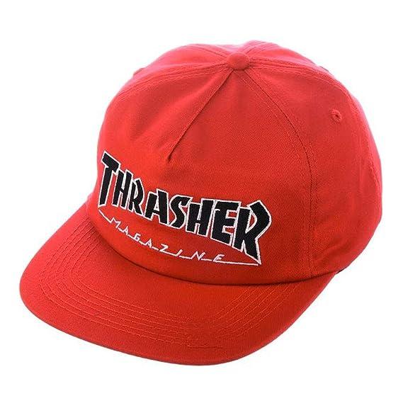 THRASHER Gorro Snapback Outlined Rojo (Default, Rojo): Amazon.es ...