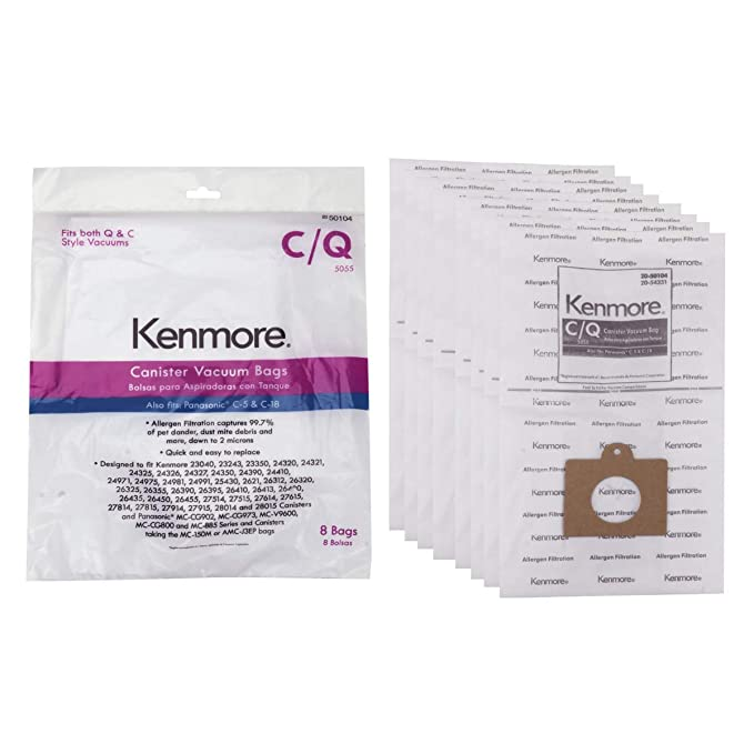 Kenmore 54321 3 Pack Style C/Q Canister Vacuum Bags