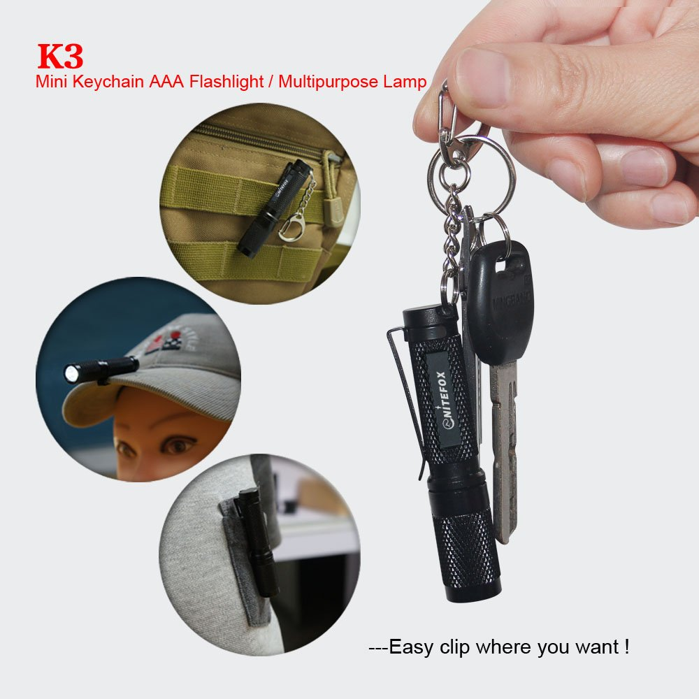 Amazon.com: Mini llavero AAA linterna K3 con difusor ...
