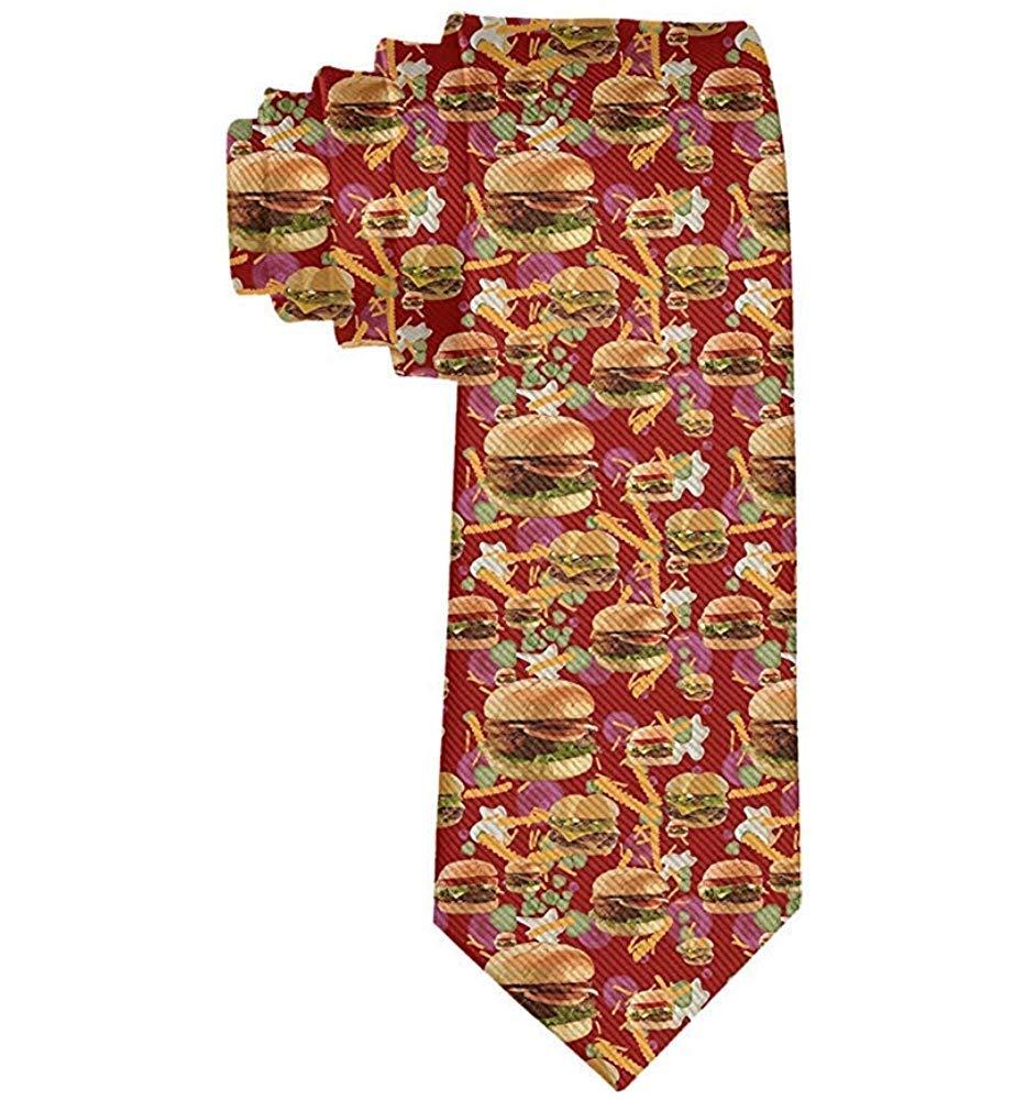 Corbatas de papas fritas de hamburguesas rojas para hombres ...