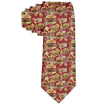 Corbata Para Hombre Corbata,Hamburguesas Rojas Para Hombres Papas ...