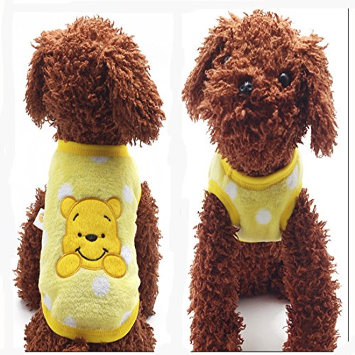 Product image of MD New Cartoon Teacup Dog Clothing Baby Pet Clothes Puppy Winter Warm Thick Sweater (XXXS, Yellow)