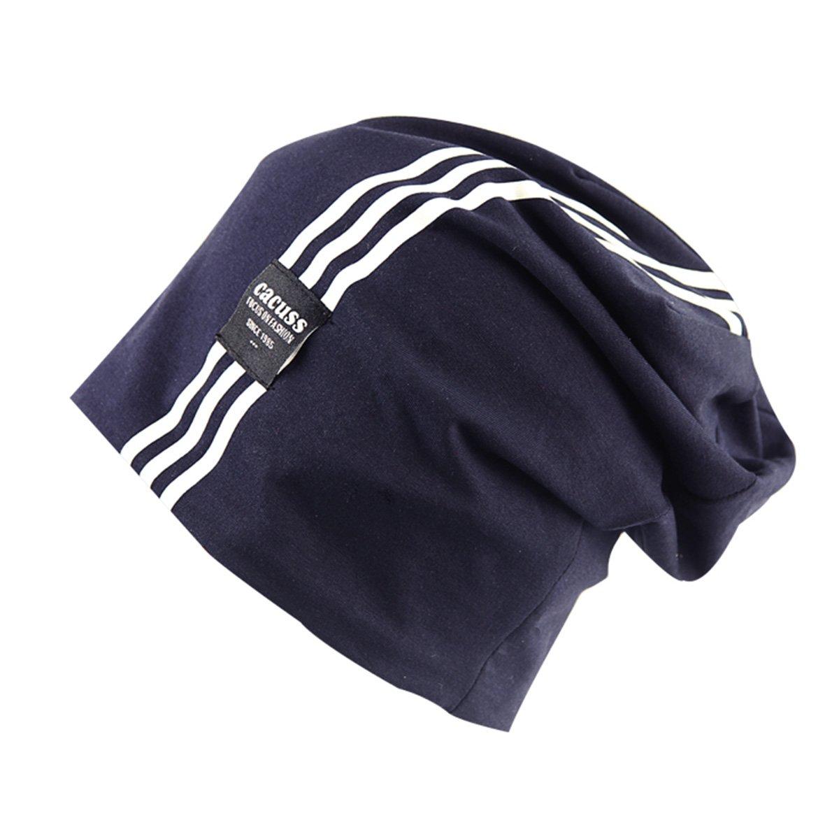 CACUSS Men Fashion Skull Cap Thin Slouchy Cotton Knit Beanie Hat
