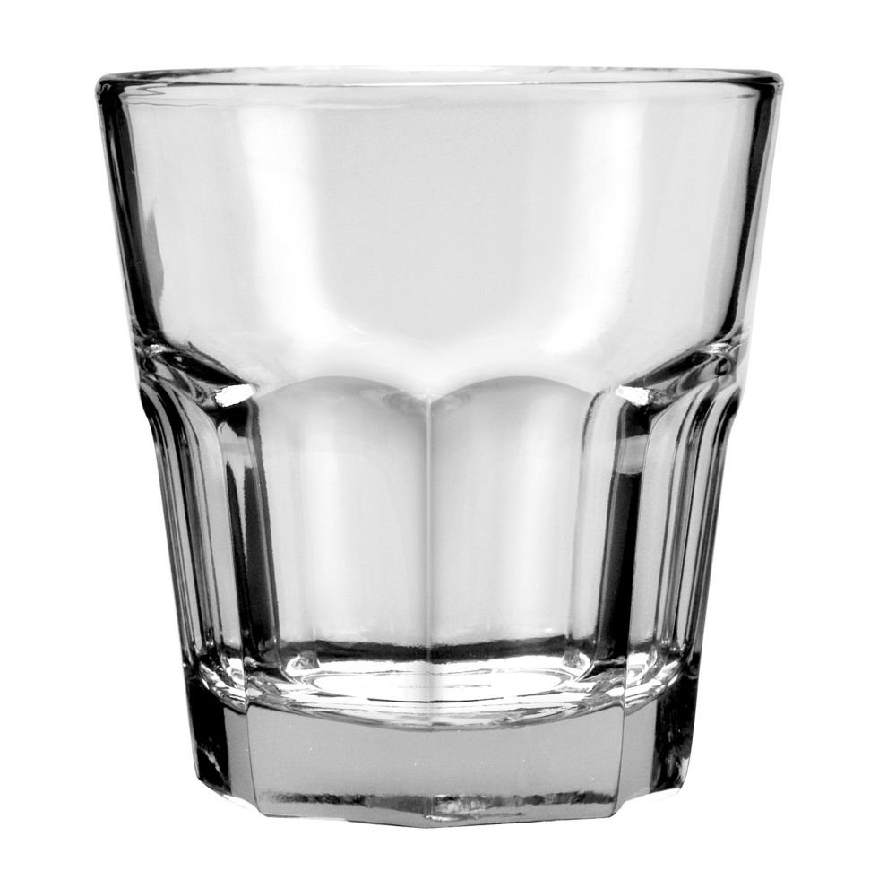 Anchor Hocking 90008 3-3/8'' Diameter x 3-3/8'' Height, 9 oz New Orleans Rock Glass (Case of 36)