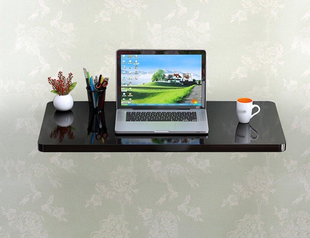 壁掛けラップトップデスクペイント折り畳み式コンピュータデスク壁掛けテーブル学習テーブルダイニングテーブルカラーサイズオプション ( 色 : ブラック , サイズ さいず : 60cm*40cm ) B07B727FG3 60cm*40cm|ブラック ブラック 60cm*40cm