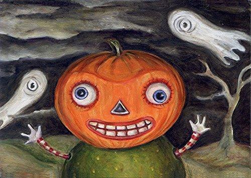 Halloween Vintage Jack-O-Lantern Print