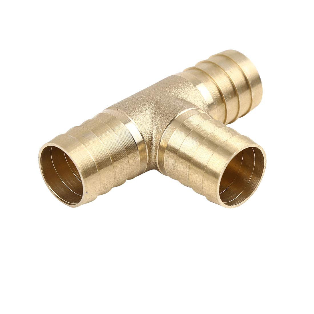 X AUTOHAUX 5mm Hose Barb Brass Joiner Tee 3 Way Adaptor for Air Water Oil Pipe