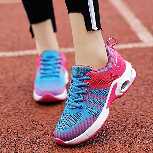 Tennis cushion Shoes Lightweight Jogging Blue Fitness Walking Air Air Sneakers Athletic Vivya Womens Workout Running 4qxUnFz