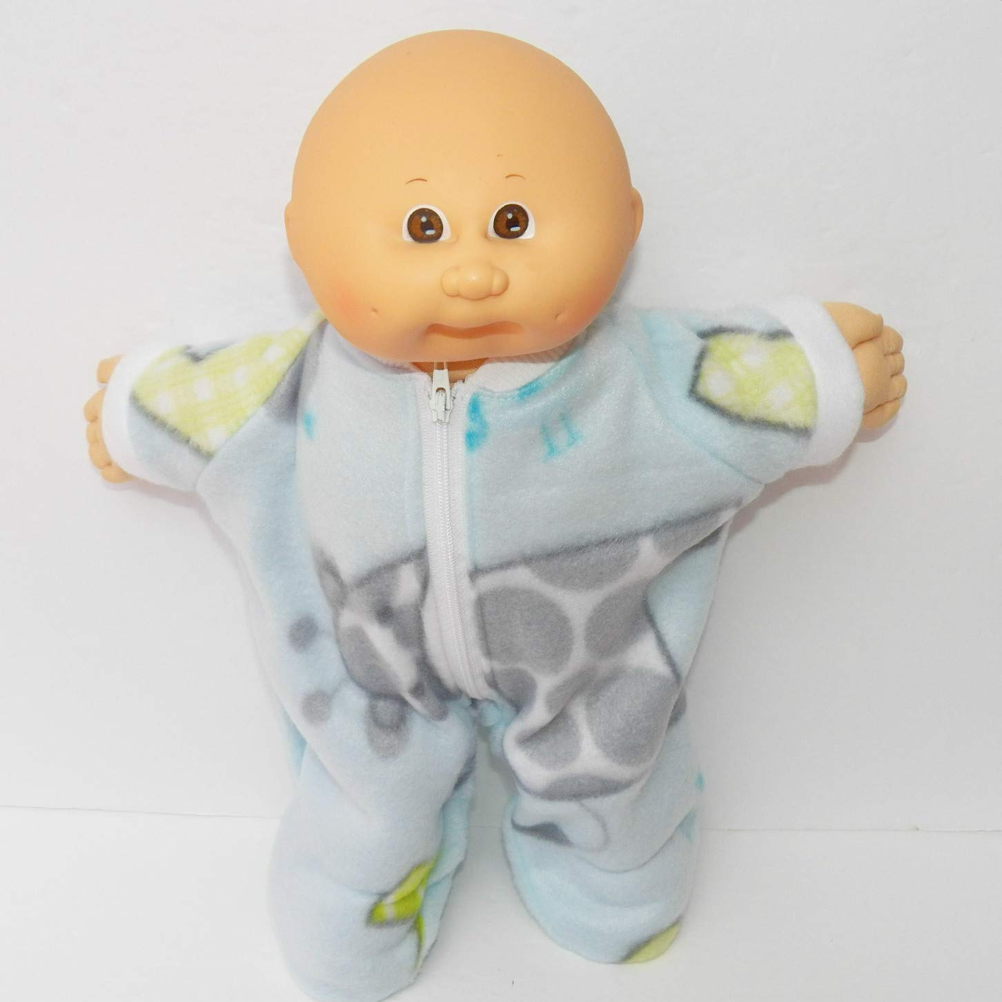 Cabbage Patch Doll Clothes 14 Inch Boy or Preemie Size Blue Giraffe Sleeper Pajamas Clothes Only
